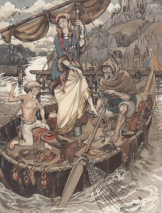 An illustration from the Mabinogion