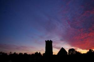 Sunset Above Eglwys Dewi Sant