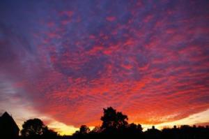 Sunset Above Eglwys Dewi Sant2